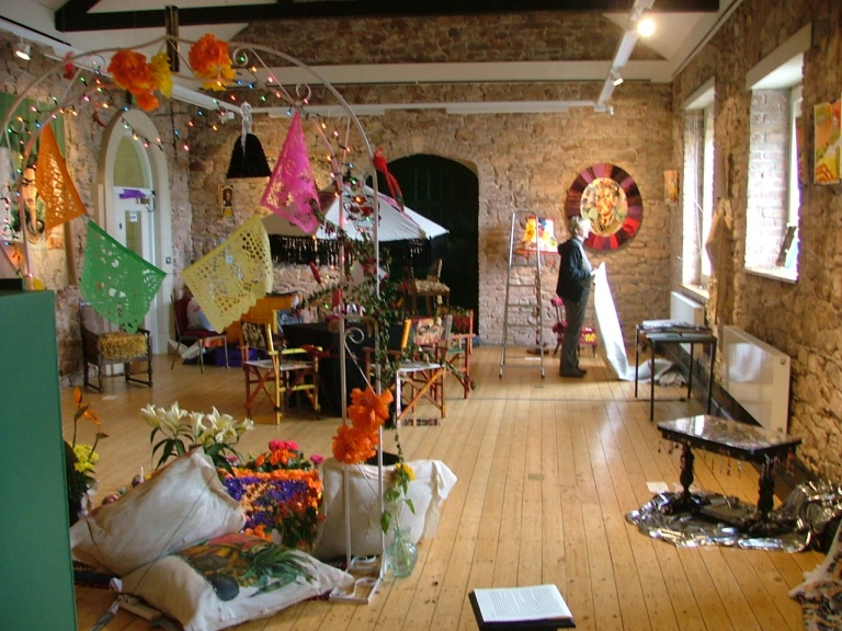 Setting up 'Homage to Frida Kahlo' October 2011