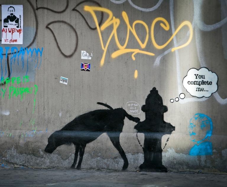 Banksy Mural Graffiti!!!